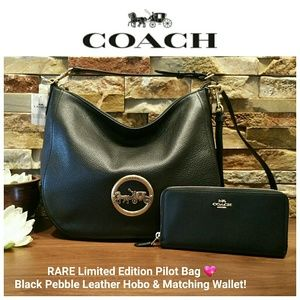 **SALE** NEW Coach Leather Hobo & Wallet